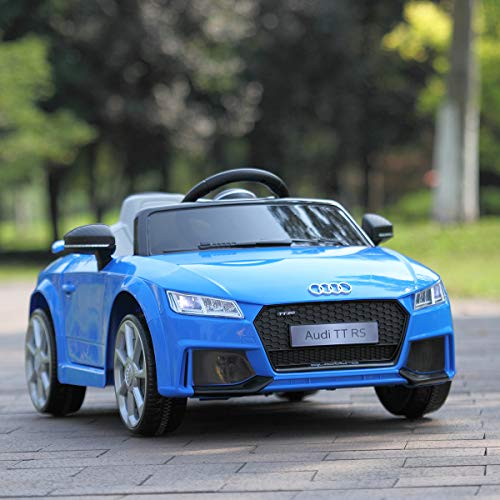 JAXPETY 12V Audi TT Kids Ride on Car, Children Electric Ride on Vehicle with 2.4Ghz Parental Remote Control & Manual Operation, LED Lights Music Story MP3, Blue
