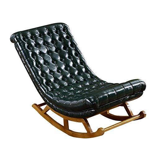 Lounge Chair Asientos de la Silla Mecedora al Aire Libre Interiores Patio Mecedora clásico Salón Sillón tapizado Retro tumbonas Decoración Muebles Porches Balcón Rocker 4 Color