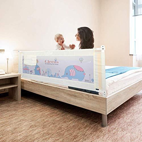 Barriera letto Bambini Letto Barriera Paracolpi Di Sicurezza Per Neonati, Anti Cadute, Deflettore Di Aria Laterale Per Letto Grande 1.8M