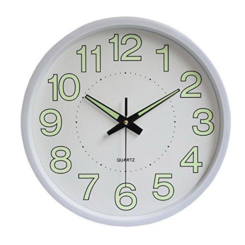Återköp lysande väggklocka modern enkel dekoreringsklocka för kök vardagsrum sovrum kontor, 30 cm 30.5*4.3cm/12*1.7inch Vitt