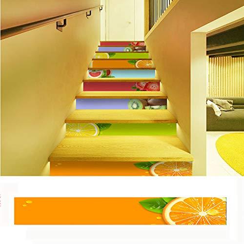 SQINAA Pegatinas 3D para escaleras, PVC ecológico, Autoadhesivas, extraíbles, Impermeables, para baldosas de escaleras, Pegatinas para Sala de Estar, Cocina,Dormitorio, decoración del hogar (5 PCS),I