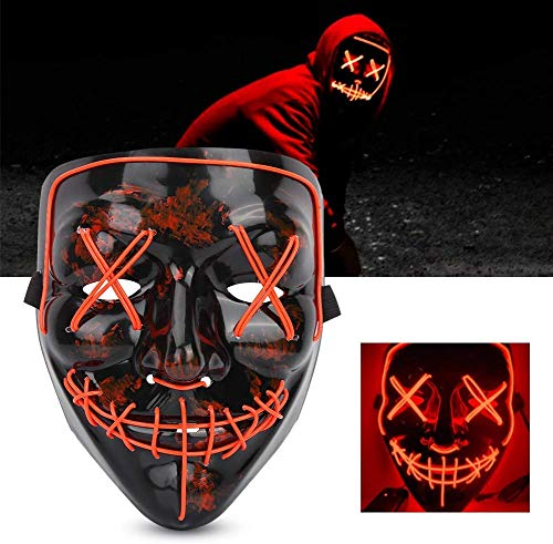 VGEBY1 LED Halloween Masker, Glow Scary Gezichtsmasker Rubber Terror Wire Masker voor Carnaval Festival Cosplay Clubs Party