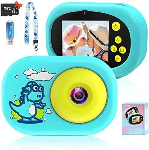 Uleway Uleway Cámara Digital para Niño 2.4' Selfie Video Cámara Infantil con Tarjeta TF 32GB Funda Silicona Cámara de Acción Juguete Regalos para Niños y Niñas de 3-12 Años (Azul)