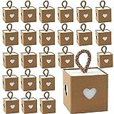 30 Piezas Cajitas de Carton para Chuches, Envolver Cajas de Dulces de Regalo,...