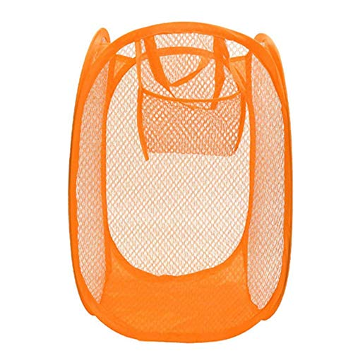 EgBert KCASA KC-0916 Mesh Pop Up Wäscherei Hamper Faltbares Wäschekorb Hauskleidung Veranstalter - Orange