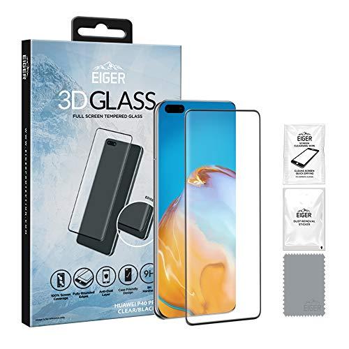 Eiger 3D GLASS Schutzfolie, transparent/schwarz, Huawei P40 Pro