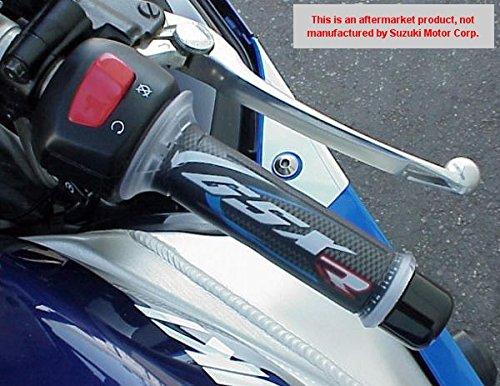 i5 Suzuki GSX250 GSX250R GSXR600 GSXR750 GSXR1000 GSX 250 250R GSXR 600 750 1000 BLUE/CARBON GEL LOGO HAND GRIPS