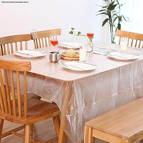 RJJBYY Paquet De 2 Table Couverture Nappe De Table en Plastique Couverture Nappe Tableau Chiffons pour Les Parties D'intérieur Ou D'extérieur Anniversaires Mariages Noël,1.8 x 1.8m