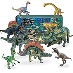 4. Myouth 5″-9″ Dinosaur Action Figures (8 pieces)