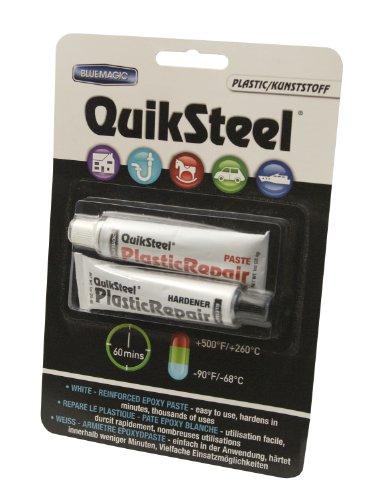 QuikSteel Plastik. 2-Komponenten-Epoxidkleber, nach 1 Std. hart wie Stahl, 2x 28,4 g