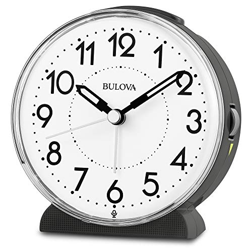 Bulova B1868 Oracle Alarm Clock, Black