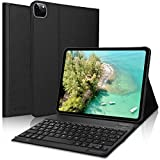 KVAGO Teclado con Funda para iPad Pro 11 2020/2018,Bluetooth Teclado Diseño en Español(Incluyen el ñ) con Inteligente Ultrafino Anti-Scratch Cover Funda para iPad Pro 11 2020/2018,Negro