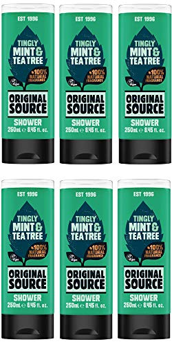 Original Source Shower Gel Mint and Tea Tree 250ml Pack of 6