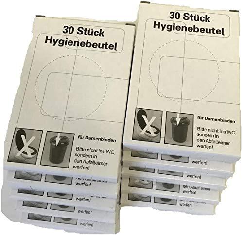 Hygienebeutel | für eine einfache Entsorgung von Damenbinden, Slipeinlagen und Tampons | 10 Packungen à 30 Stück = 300 Stück