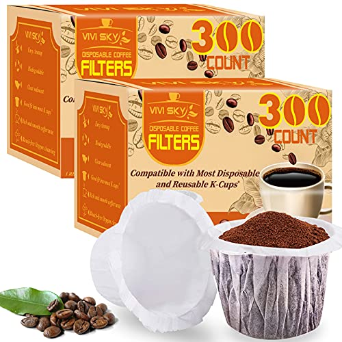VIVI SKY Coffee Paper Filters 600 Disposable Paper Filters Compatible...