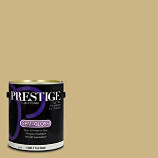 Prestige Paints E500-T-SW6408 Exterior Paint and Primer in One, 1-Gallon, Semi-Gloss, Comparable Match of Sherwin Williams Wheat Grass, 1 Gallon,