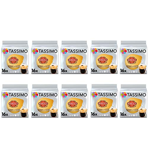 TASSIMO Marcilla Cafe Große Frühstückskaffeepads - 10er Pack (160 Getränke)