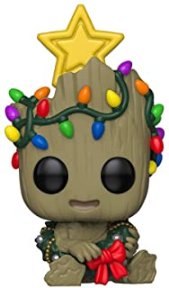 Funko Pop Bobble Vinyle Marvel: Holiday-Groot Figura