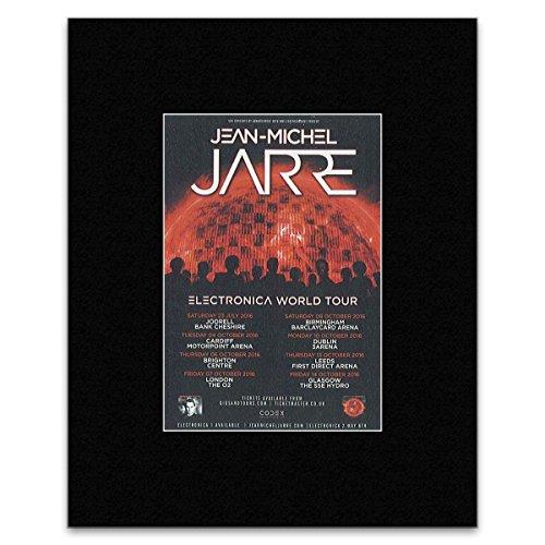 Q Mini-Poster, Jean-Michel Jarre Electronica World Tour 2016, 25,4 x 20,3 cm