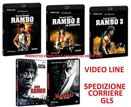 RAMBO La Trilogia 1-2-3 + Rambo: Last Blood + John Rambo (5 Film DVD) - Edizione Italiana