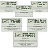 Tea Tree Therapy Vegetable Base Bar Soap, Eucalyptus, 6 Count