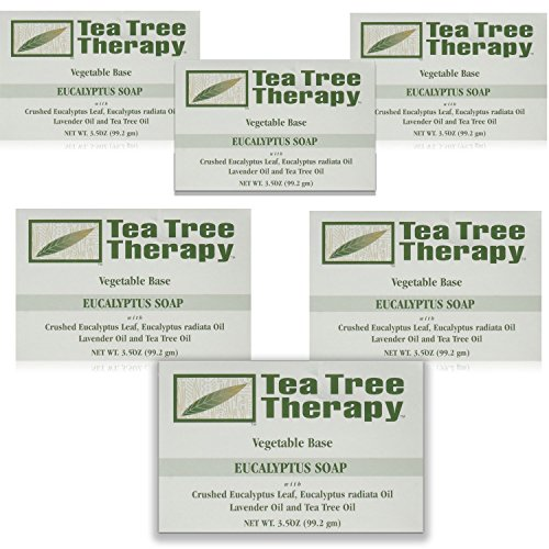 Tea Tree Therapy Vegetable Base Bar Soap, Eucalyptus, 6 Count