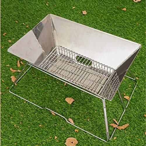 51GqHeU5OGL - YDHWT Folding Edelstahl BBQ Grill tragbare Camping Grills im Freien Holzkohlegrill Grillrost Grillzubehör