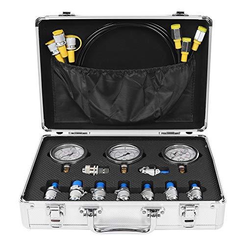 Hydraulik-Manometer-Kit, Bagger Teile Hydraulic Tester Kupplung Hydraulikdruck Test Kit für Bagger Baumaschinen
