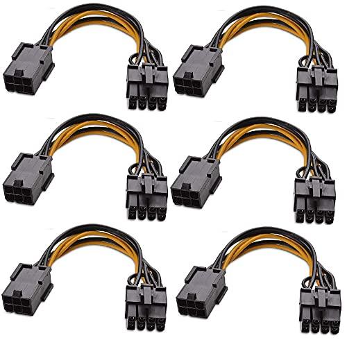 Runtodo 6-Pack PCIe 6Pin auf 8Pin, PCI-E...