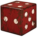 Uttermost 24168 Burnt Red w/Antique Ivory Dice Accent Table