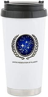 CafePress STAR TREK UFP Insignia Stainless Steel Travel Mug Stainless Steel Travel Mug, Insulated 16 oz. Coffee Tumbler