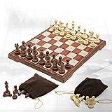 GaoJinZhuan Magnética Viaje Juego de ajedrez Juego de ajedrez for Adultos niños Plegables portátiles de Juego de ajedrez Tradicional del Juego de ajedrez