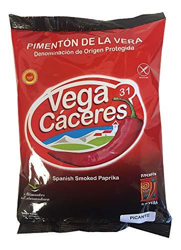 1 kg de Pimentón Ahumado Picante de la Vera, con denominación de Origen Protegida en Saco