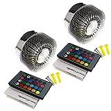 2x LED RGB 3W Spiral Wandlampe Wandleuchte Effektlicht Deckenlampe Deckenleuchte