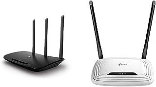 TP Link TL WR940N N450 WLAN Router (für Anschluss an Kabel / DSL / Glasfaser Modem) schwarz & TL WR841N N300 WLAN Router (300Mbit/s (2,4GHz), 4 x 10/100Mbit/s LAN Ports), weiß/schwarz