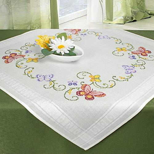 Ernst Schäfer Kit de punto de cruz, diseño de mariposas y cenefas, para bordar, para primavera y verano