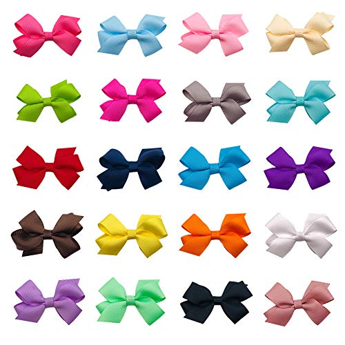 Ruyaa Tiny 2' Hair Bows Fully Lined Hair Clips for Baby Fine Hair Infants...