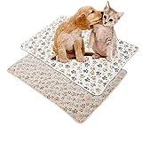 Keyohome 2pcs Katzen und Hunde Decke 76 * 52cm/104 * 76cm für Haustier Hundedecke Katzendecke...