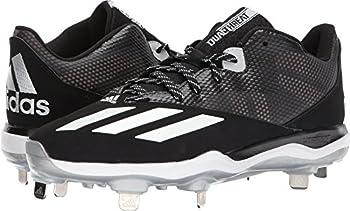 adidas Dual Threat Baseball 2 Black/White/Silver Metallic 13 D  M