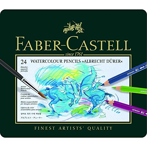 Faber-Castell Knstler-Aquarellstift ALBRECHT DšRER©,24 Farben sortiert im Metalletui