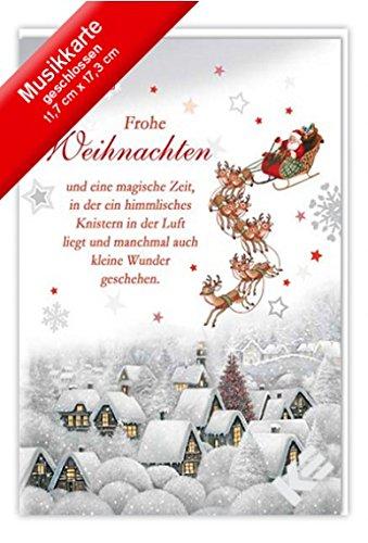Weihnachtskarte mit Musik