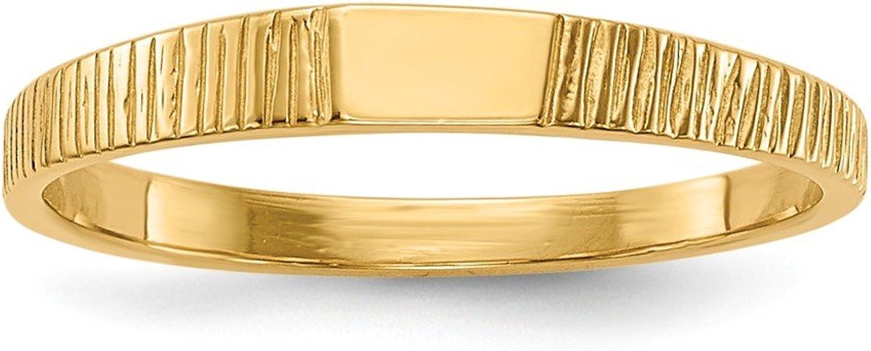 Beautiful Yellow gold 14K Yellowgold 14k Polished & Ridged Baby Ring