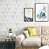 3D Papel Pintado No Tejido Papel Pintado Geométrico Moderno De Diamante Nordic Ins Viento Dormitorio Estudio Sala De Estar Fondo Tv Papel Pintado No Tejido,120 Cm * 100 Cm