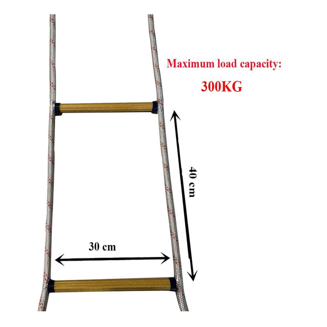 JUYHTY Escalera de Emergencia contra Incendios, Escalera de Cuerda de Escape, Adecuada para niños y Adultos,5m/16ft: Amazon.es: Hogar