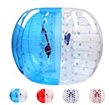 Bubble Soccer Balls Dia 5' (1.5m) Human Hamster Ball, Bubble Football,Bumper Ball, Zorbing Ball, Knocker Ball, Smash Ball Stress Ball Loopy Ball (Blue Dot)