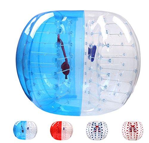 Garybank Bubble Fußball Bälle Dia 5 '(1,5 m) Bubble Fussball,Bubble Soccer,Bumper Bälle,Zorb Ball,Luft gefüllten Bälle (Blau und Klar)
