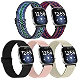 Beatlone Nylon Adjustable Elastic Watch Band Compatible with Fitbit Versa/Versa 2 / Versa Lite Loop Band Women Men Sport Replacement Stretchy Bands Bracelet Soft Wristband