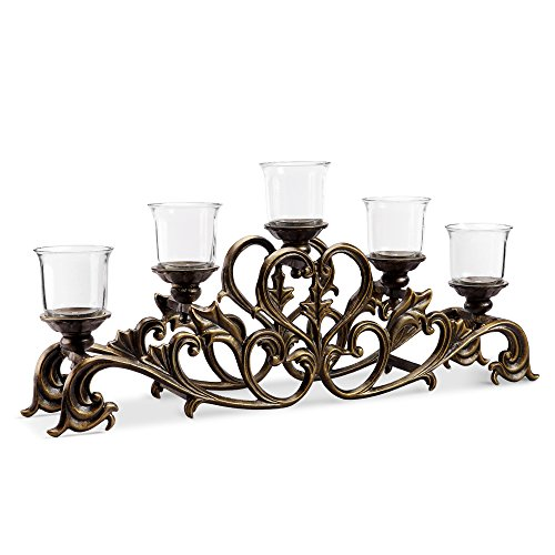 Viridian Bay Fontaine Collection Belrose Candelabra