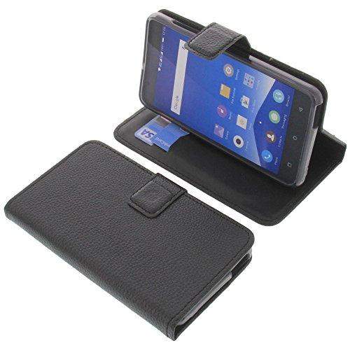 foto-kontor Tasche für Mobistel Cynus F10 Book Style schwarz Schutz Hülle Buch
