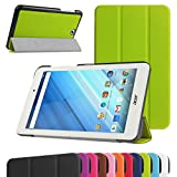MAMA MOUTH Acer Iconia One 8 B1-850 Ultra Slim Coque, Ultra Slim PU Cuir Debout Fonction Housse Coque Étui Couverture pour 8' Acer Iconia One 8 B1-850 Android Tablette,Vert